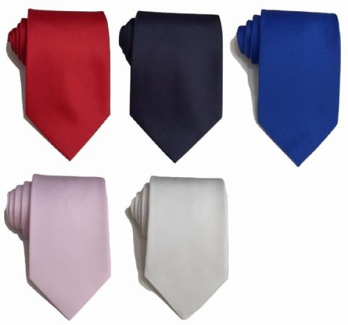 Mens Matt 9cm Standard Tie wedding event prom party plain necktie Tie UK